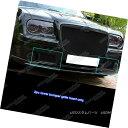 グリル Fits 05-10 Chrysler 300C Bumper Black Stainless St...