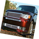 グリル Fits 2009-2012 Ford Flex Bumper Stainless Steel Me...