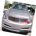 グリル Fits 2003-2004 Infiniti G35 Main Upper Billet Gril...
