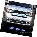 グリル Fits 2009-2014 Nissan Cube Black Main Upper Billet...