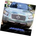 グリル Fits 07-09 Hyundai Sante Fe Logo Show Stainless St...