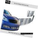 グリル Fits 2007-2008 Infiniti G35 Sedan Bumper Stainless...