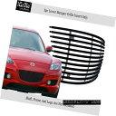グリル Fits 04-08 Mazda RX-8 Black Stainless Steel Billet...