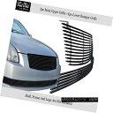 グリル Fits 04-06 Nissan Maxima Stainless Steel Black Bil...
