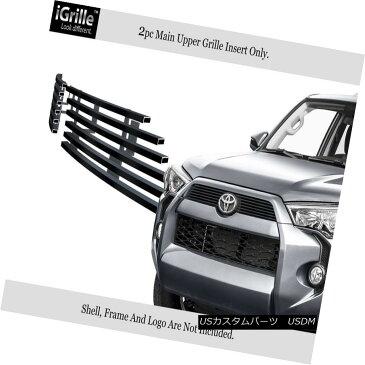 USグリル Fits 2014-2018 Toyota 4Runner Regular Model Black Stainless Steel Billet Grille フィット2014-2018トヨタ4Runnerレギュラーモデルブラックステンレス鋼ビレットグリル
