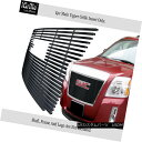 USグリル For 2010-2015 GMC Terrain 1 PC with Logo Show Stainless Black Billet Grille 2010-2015 GMC Terrain 1 PCロゴ付きステンレスブラックビレットグリル