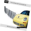 グリル For 06-11 2011 VW Volkswagen Beetle Bumper Stainle...