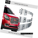 グリル Fits 2013-2015 GMC Acadia Chrome Stainless Steel B...