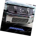 グリル Fits 2004-2007 Nissan Titan/ Armada Main Upper Bil...