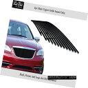グリル Fits 2011-2014 Chrysler 200 Black Stainless Steel ...