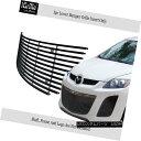 グリル Fits 2010-2012 Mazda CX-7 CX7 Black Bumper Stainle...