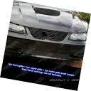 グリル Fit 99-04 Ford Mustang GT V8 Logo Show Black Bille...