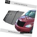 グリル Fits 2000-2005 Chrysler PT Cruiser Black Stainless...