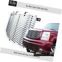 グリル Fits 02-06 Cadillac Escalade Stainless Steel Bille...