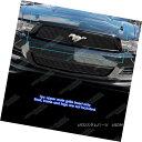 グリル For 2010-2012 Ford Mustang Black Billet Grille Ins...