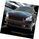グリル Fits 09-14 Nissan Maxima Stainless Steel Black Mes...
