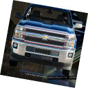 グリル Fedar Fits 2014-2015 Silverado 2500HD/3500HD Black...