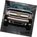 グリル 07-13 Chevy Silverado 1500 Stainless Chrome Black ...