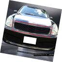 グリル Fits 03-04 Infiniti G35 Sedan Black Billet Grille ...