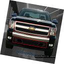グリル 07-13 Chevy Silverado 1500 Stainless Steel Black D...
