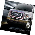 グリル For 2008-2014 Ford Econoline Van/E-series Black Billet Grille Upper Grill Fedar 2008年?2014年フォード・エコノライン・バン/ Eシリーズブラック・ビレット・グリルアッパー・グリル・フェルダー