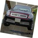 グリル Fits 03-07 Infiniti G35 2 Door Coupe Stainless Ste...