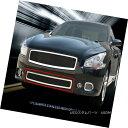 グリル Fits 2009-2014 Nissan Maxima Stainless Steel Black...