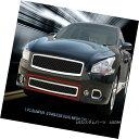 グリル Fits 2009-2014 Nissan Maxima Stainless Dual Black ...