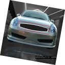 グリル For 03-07 Infiniti G35 2 Door Coupe Stainless Blac...