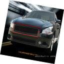 グリル Fedar Fits 09-14 Nissan Maxima Full Black Upper Fo...