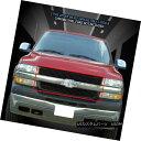グリル For 01-02 Chevy Silverado 2500 3500 Black Billet G...