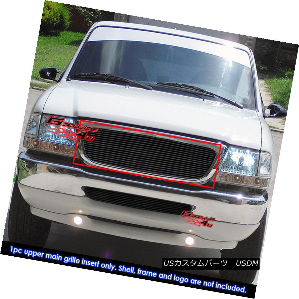 Fits 98-00 Ford Ranger Stainless Steel Black Billet Grille Insert