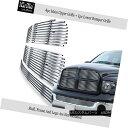 グリル Fits 02-05 Dodge Ram 304 Stainless Steel Billet Gr...