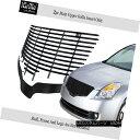 グリル For 07-09 Nissan Altima Black Stainless Steel Bill...