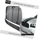 グリル Fits 05-10 Dodge Charger 304 Stainless Steel Black...