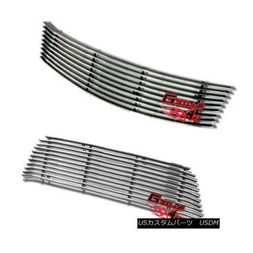 USグリル Customized For 06-08 Honda Civic 2 Door Coupe Billet Premium Grille Combo 06-08ホンダシビック2ドアクーペビレットプレミアムグリルコンボ用