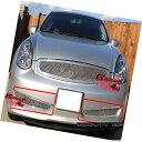 グリル For 06-07 Infiniti G35 Sport Coupe Bumper Mesh Gri...