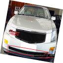 グリル Fits 03-07 Cadillac CTS Bumper Black Stainless Mes...