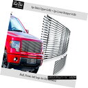 グリル Fits 2009-2014 Ford F150 Stainless Steel Billet Gr...