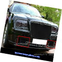 グリル For 05-10 Chrysler 300C Bumper Black Stainless Ste...