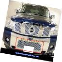 グリル Fits 04-07 Nissan Armada/04-2015 Titan Stainless S...
