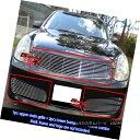 グリル For 03-04 Infiniti G35 Sedan Billet Grille Combo I...