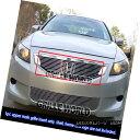 グリル Fits 2008-2010 Honda Accord Coupe Billet Main Uppe...