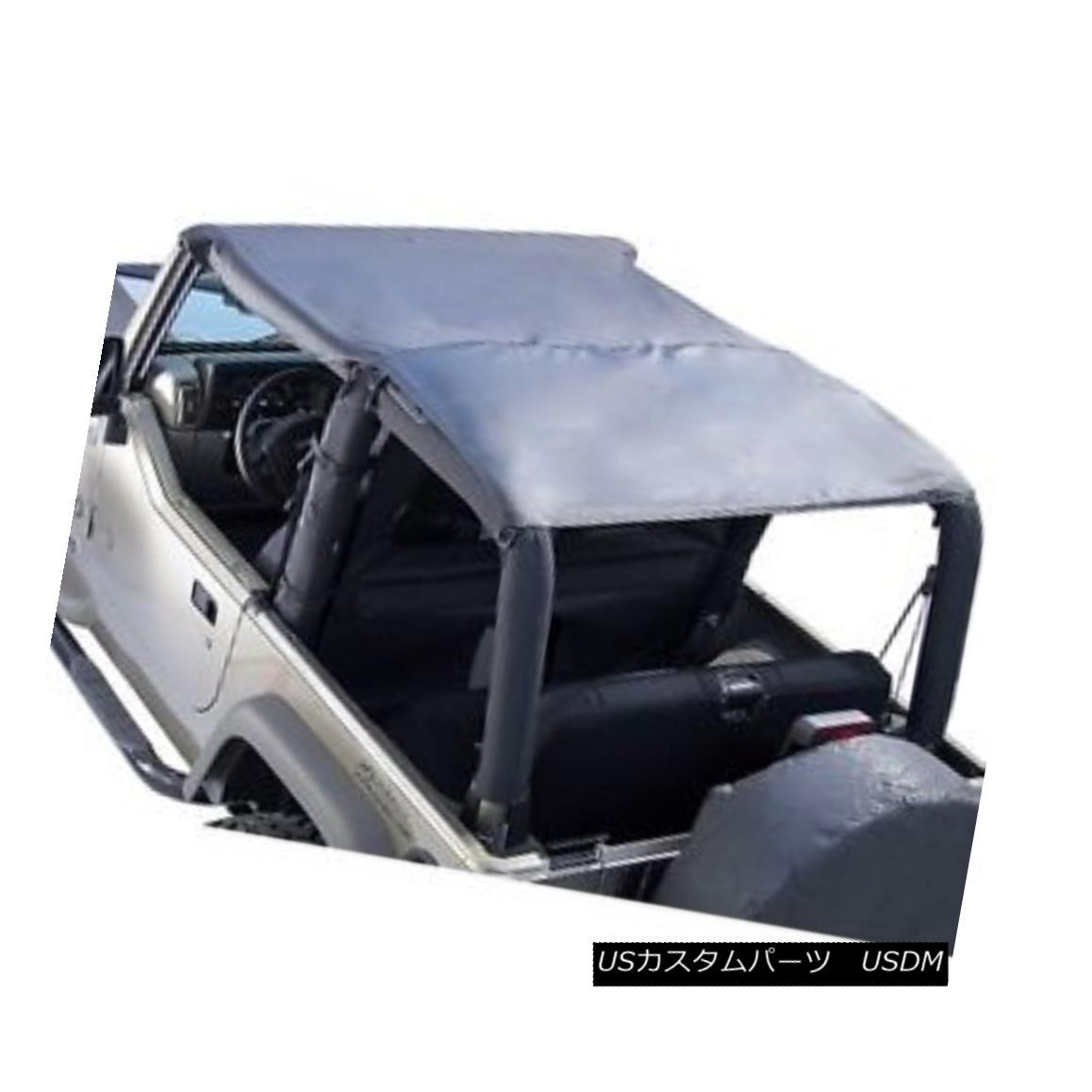 幌・ソフトトップ Rugged Ridge Island Pocket Topper Soft Top 97-06 Jeep TJ Wrangler Black Diamond 頑丈なリッジ島ポケットトッパーソフトトップ97-06ジープTJラングラーブラックダイヤモンド画像