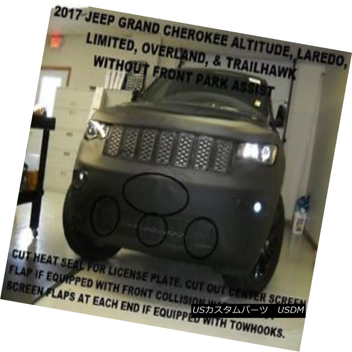 フルブラ ノーズブラ Lebra Front End Mask Bra Fits 2017-2018 Jeep Grand Cherokee Lim.,Laredo,w/o park Lebraフロントエンドマスクブラフィット2017-2018 Jeep Grand Cherokee Lim。、Laredo、o park画像