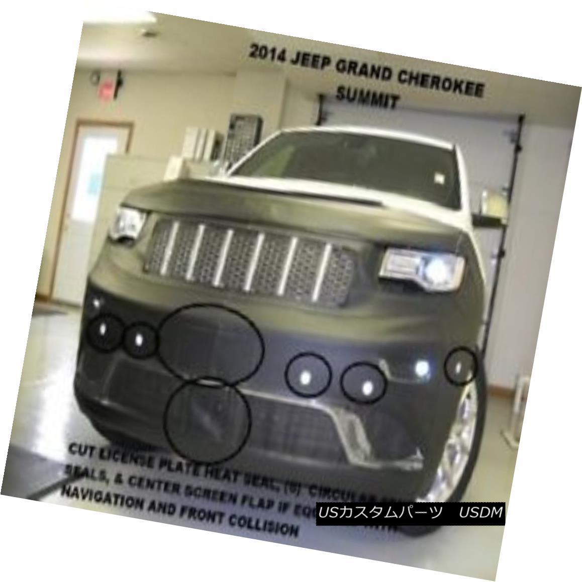フルブラ ノーズブラ Lebra Front End Mask Bra Fits Jeep Grand Cherokee Summit 2014-2016 14 15 16 LebraフロントエンドマスクブラはJeep Grand Cherokee Summitにフィット2014-2016 14 15 16画像