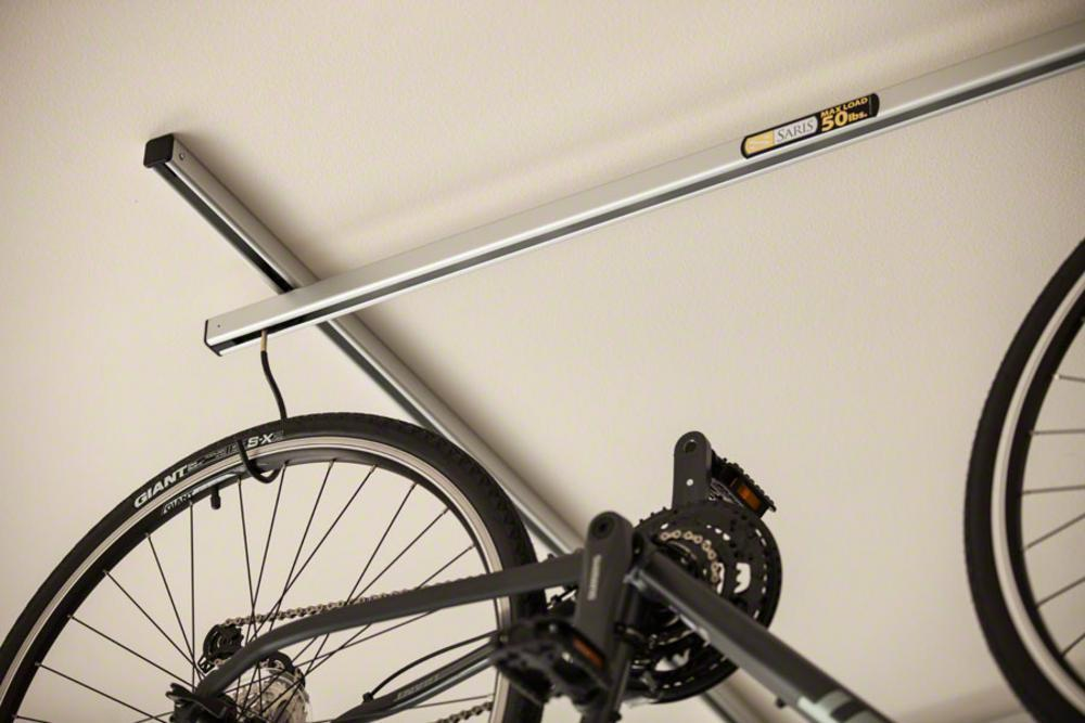 Saris Cycle-Glide Ceiling Mount 4-Bike Storage Silver