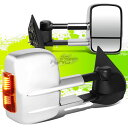 ミラー FOR 97-03 FORD F150/F250 POWERED+TURN SIGNAL CHROM...