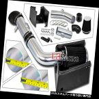 エアインテーク インナーダクト 黒い冷たい空気吸入誘導キット+ 05-08フォードF150 5.4L V8のための熱シールド BLACK Cold Air Intake Induction Kit + Heat Shield For 05-08 Ford F150 5.4L V8