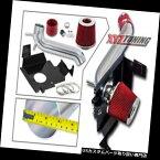 "USエアインテーク インナーダクト 3 ""赤い熱シールド冷気取り入れ+ 05-10クライスラー300 3.5L V6用フィルター 3"" RED Heat Shield Cold Air Intake + Filter For 05-10 Chrysler 300 3.5L V6"